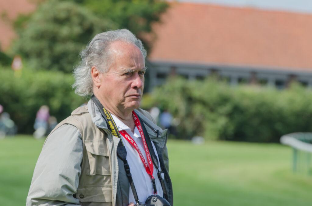 Etienne Deman als fotograaf op Waregem Koerse